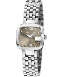 Gucci - G- Stainless Steel Brown Dial Watch - Lyst