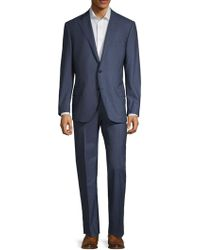 Corneliani - Striped Wool Suit - Lyst