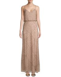 Adrianna Papell - Embellished Blouson Long Dress - Lyst