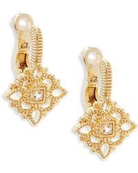 Judith Ripka - White Sapphire And Sterling Silver Leverback Earrings - Lyst