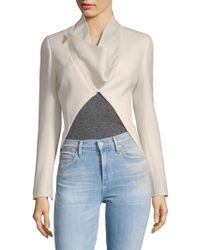 Akris - Calla Wool Cut-out Jacket - Lyst