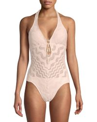 Robin Piccone - Sea Gypsy One-piece Lace Swimsuit - Lyst