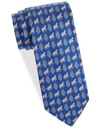 Ferragamo - Horse Silk Tie - Lyst