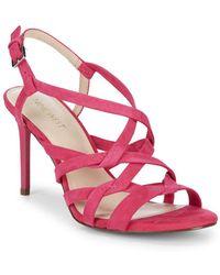 Nine West - Rainford Strappy Suede Sandals - Lyst