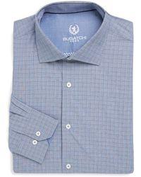 Bugatchi - Chequered Cotton Dress Shirt - Lyst