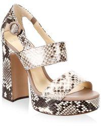 Alexandre Birman - Elouise Platform Sandals - Lyst
