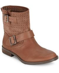 Vince Camuto - Cahya Woven Moto Booties - Lyst