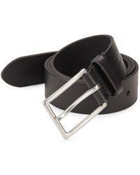 Frye - Flat Panel Leather Belt - Lyst