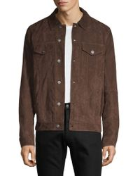 Saks Fifth Avenue - Suede Trucker Jacket - Lyst