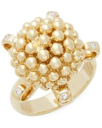 Temple St. Clair - Diamond And 18k Yellow Gold Statement Ring - Lyst