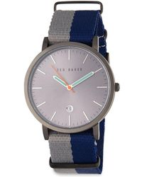 Ted Baker - Stainless Steel Quartz Watch - Lyst