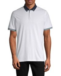 AG Green Label - Deuce Colorblocked Polo - Lyst