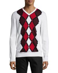 J.Lindeberg - Diamond Merino Wool Sweater - Lyst