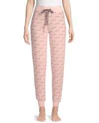 Pj Salvage - Printed High-rise Lounge Trousers - Lyst