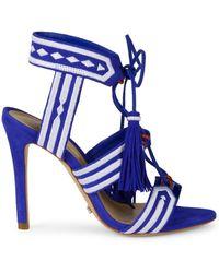 4c0f1fe2d5ea Lyst - Rachel Zoe Back-tassel Platform Sandal in Black