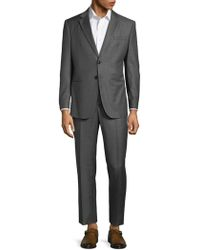 Armani Checkered Wool Suit