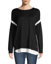 Calvin Klein - Long-sleeve High-low Jumper - Lyst