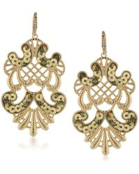 ABS By Allen Schwartz - Somewhere To Be Sequined Goldtone Drop Earrings - Lyst