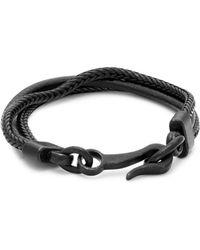Link Up - Matte Leather Hook Bracelet - Lyst