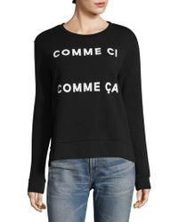 French Connection - Comme Ci Comme Ca Cotton Sweatshirt - Lyst
