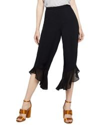 BCBGeneration - Mixed-media Cropped Trousers - Lyst