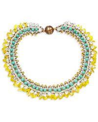Tataborello Beaded Collar Necklace