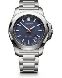 Victorinox - I.n.o.x. Stainless Steel Link Bracelet Watch - Lyst