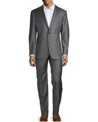Hickey Freeman - Classic-fit Pinstripe Wool & Silk Suit - Lyst