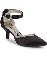 Anne Klein - Fantine Satin Court Shoes - Lyst
