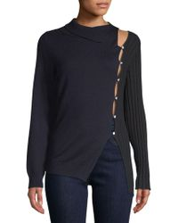 Jacquemus - Mixed-media Knit Wool Sweater - Lyst