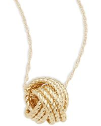 Saks Fifth Avenue | Love Knot 14k Yellow Gold Pendant Necklace | Lyst