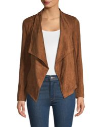 BB Dakota - Nicholson Faux Suede Draped Jacket - Lyst