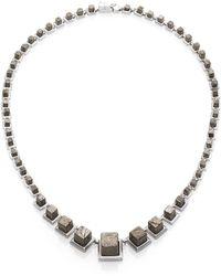Eddie Borgo - Pyrite Graduated Cube Necklace - Lyst