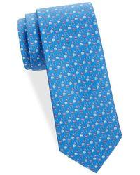 Ferragamo - Logo And Bird Silk Tie - Lyst