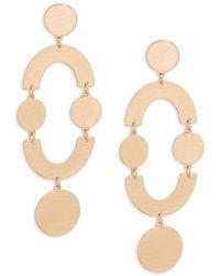 Natasha Couture - Hammered Geometric Earrings - Lyst