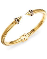 Vita Fede - Mini Titan Pavé Crystal Spike Bracelet/goldtone - Lyst