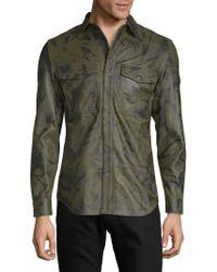 DIESEL - Long-sleeve Leather Jacket - Lyst