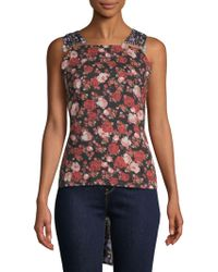 Mother Of Pearl - Paula Mix Floral Top - Lyst