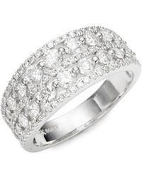 Nephora - Double Row Diamond Ring - Lyst