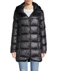 Donna Karan - Quilted Hooded Down Jacket - Lyst