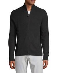 Saks Fifth Avenue - Full Zip Cashmere Jumper - Lyst