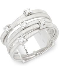 Marco Bicego - Goa Diamond And 18k White Gold Ring - Lyst