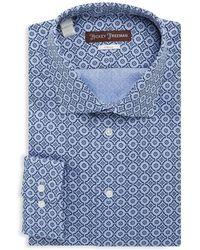 Hickey Freeman   Cotton Textured Classic-fit Dress Shirt   Lyst