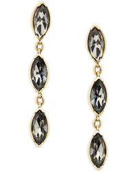 Heidi Daus - Triple Crystal Drop Earrings - Lyst