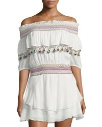 Red Carter - Mira Off-the-shoulder Cover-up Dress - Lyst