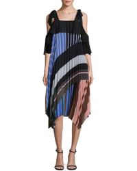 DELFI Collective - Lola Striped Pleated Shift Dress - Lyst