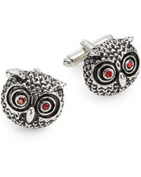 Saks Fifth Avenue - Owl Eyes Cuff Links - Lyst