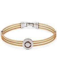 Alor - Diamond & 18k White Goldmulti-strand Bracelet - Lyst