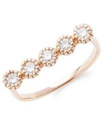 Saks Fifth Avenue - 14k Rose Gold & Diamond Bar Ring - Lyst