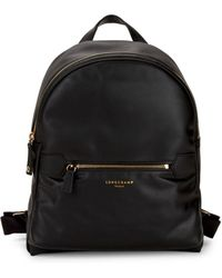Longchamp - Small Leather Backpack - Lyst